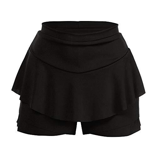 CICIYONER Damen Röcke Mini Rock Shorts Layered gekräuselte Rüschenröcke mit hoher...