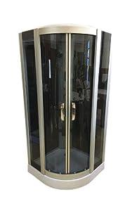 DUCHA CABINA DE HIDROMASAJE SPA RADIO mod. New York 90 x 90 cm CROMOTERAPIA