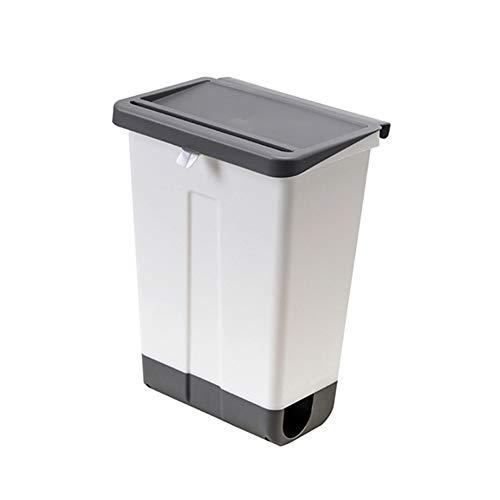 ZYING Cubo de Basura de Cocina, baño, Bote de Basura de plástico montado en la Pared, Bote de Basura doméstico con Tapa