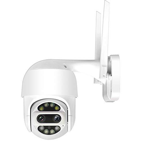 SecuSTATION 防犯カメラ ネットワーク Wi-Fi 二眼レンズ搭載 ドーム型 日本メーカー 発光LED 265万画素 クラウド SDカード スマホ 防水 SC-CG42
