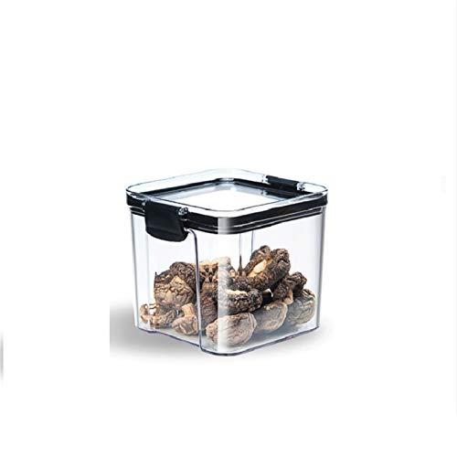DNAMAZ Capacidad de plástico Sellado Caja de Almacenamiento Caja de Almacenamiento Transparente Alimento Recipiente Mantenga Fresco Nuevo contenedor Claro (Color : 700ml)