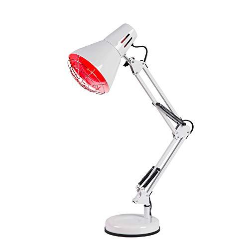 RZH Infrarot Physiotherapie Lampe LED Hautpflege Stehleuchte Infrarotlampe 220V/110V Eisen Tischlampen Hyperthermie Lichter Zur Linderung Von Schmerzen,Weiß