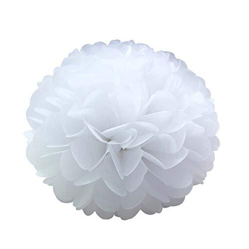 12 PCS Flores de Papel Pompones 15cm Decoraciones Pom Pom, Pompon de Papel de Seda, Pon Pon, Pom Pon, Pompones, Pompon para Bodas Decoración, Cumpleaños, Fiestas de Graduación, Baby Showers