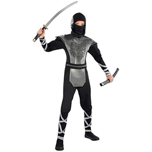 amscan 999472 Howling Wolf Ninja Costume Age 8-10 Years - 1 Pc