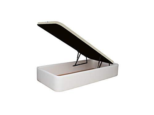 Canapé Polipiel Blanco tapizado 90x190cm Acabado de Esquinas Redondas Fabricado con Materiales de 1...