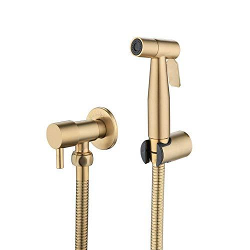 Zixin Taps Wasserfall Toilette Bidet Hahn eingestelltes Wand Badezimmer WC Hochdruckpistole Nozzle Bidet Armatur Badezimmerzubehör Bürste Gold Taps
