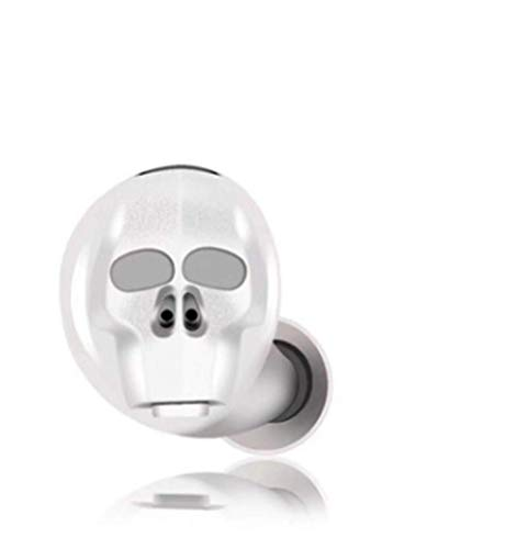 Mini-Kopfhörer, kabellos, Halloween, Totenkopf-Form, unsichtbar, In-Ear-Kopfhörer, Sport, Business, Kopfhörer, Freisprecheinrichtung, versteckte Ohrhörer (weiß)