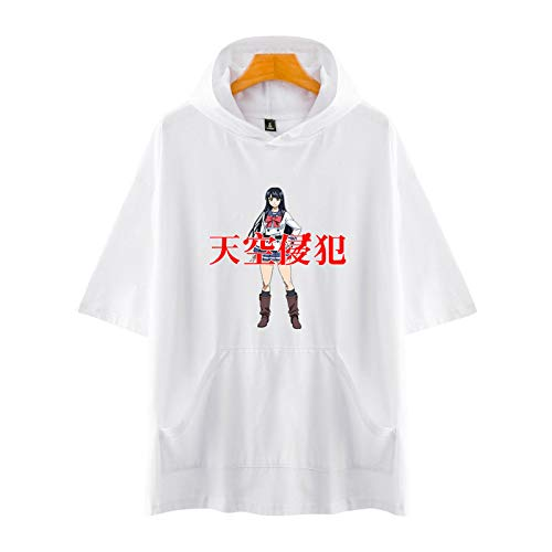 YICHEN High-Rise Invasion Camisetas Estampada Hooded T-Shirt tee Manga Corta Tshirt Top Deportiva para Hombres Mujer