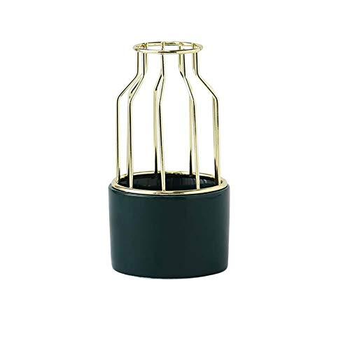 Monbedos groen doorbroken decoratieve vaas van smeedijzer, kunstversiering vaas huidsdecoraties
