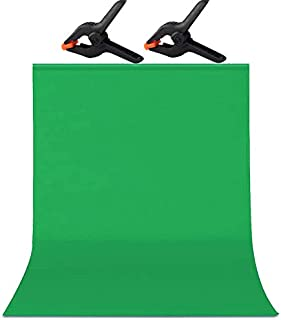 5 x 6.5 FT/1.5x2M Zoom Green Screen,Soft Photography Backdrop Background,for Photo Video Studio,Chroma Key and Televison,2...