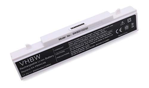 vhbw Batterie LI-ION 6600mAh 11.1V pour Samsung E151, NP-P480, P230, Q318, R423 etc. Remplace AA-PB9NC6B / AA-PB9NS6B / AA-PB9NC6W
