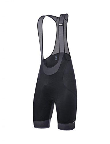 Santini Scatto Bib Shorts para Hombre, Hombre, Mallas Cortas con Tirantes, CAS3524S, Negro, S