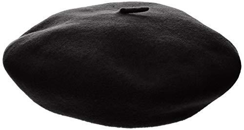 Kangol Anglobasque Baskenmütze Beret Baske (L/58-59 - schwarz)