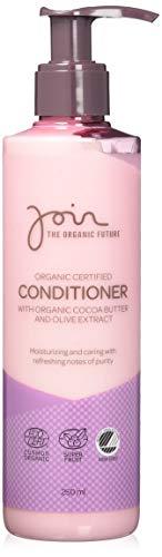 Join - Acondicionador de cabello ecológico con manteca de cacao y extracto de olivas (pack de 2 botes de 250 ml cada uno)
