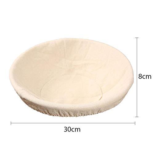 Zuurdesembroodijsmand, 11,8 inch rond broodmandijs, Rotan-deegkom, Home Banneton-rijsmanden voor brood bakken