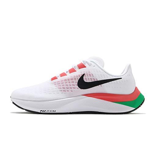 Scarpe Nike Air Zoom Pegasus 37, Bianco, rosso e verde, 41 EU