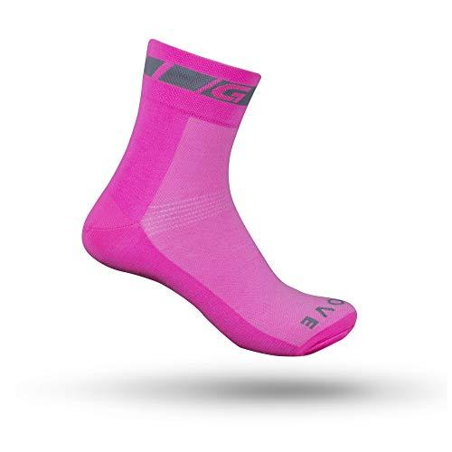 GripGrab Unisex-Adult 1er Classic Low Cut-Single Pack Socken, Pink Hi-Vis - 1 Paar, S (38-41)