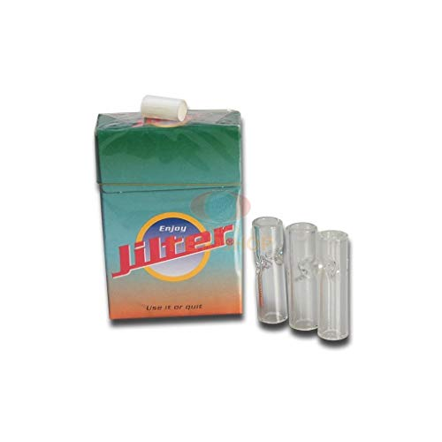 JILTER 3 GlasTips + 42 Filter Glass-Tips Eindrehfilter Schmandfänger Glas Tips NEU