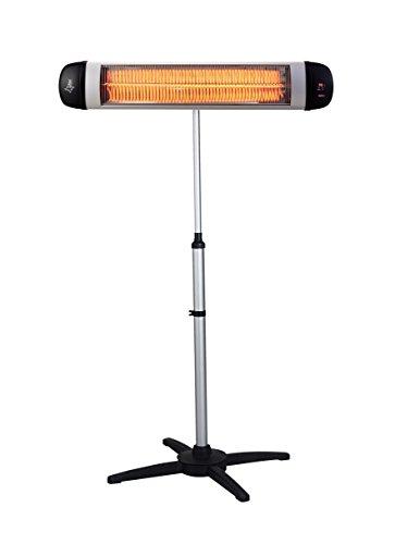 SUNTEC Carbon-Heizstrahler Heat Ray Carbon 3000 Outdoor mit Teleskopstandfuß [Für Räume bis 60 m³ (~25 m²), Indoor & Outdoor geeignet, 3 Heizstufen, Timer, 3000 Watt]
