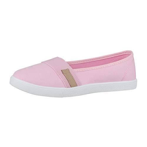 Elara Damen Ballerina Flache Bequeme Slipper Chunkyrayan CL33310 Pink-38