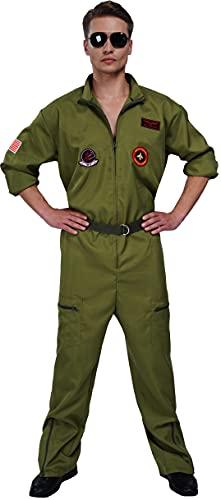 Maxim Top Gun Flight Suit Costume for Men
