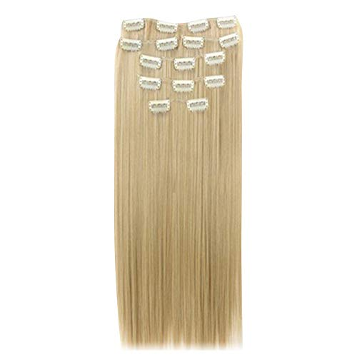 Fashion Lady 16 Clips Postiche Perruque Cosplay Long bouclés/extension de cheveux raides – Geshiglobal