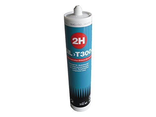 Preisvergleich Produktbild 2H SIL T300 Hochtemperatur-Silikon (max. +300°C) 310ml Kartusche