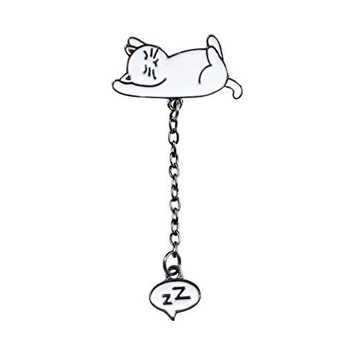 MYQ 4 pcs/Set Cartoon Animal Brooch Cat Penguin Pig Baby Elephant Sleep in The Clouds Snoring Zz Enamel Pin Cloth Backpack Badge Child Gifts