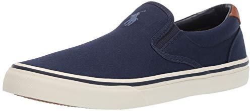 Polo Ralph Lauren mens Thompson Sneaker, Newport Navy, 10.5 US