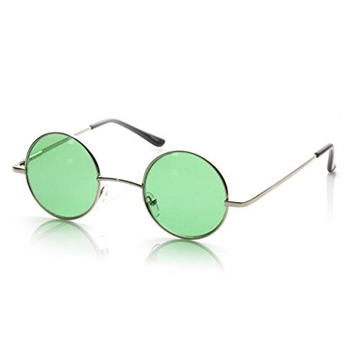 Hipster Fashion pequeño Metal redondo círculo Ozzy Elton color Tint Lennon estilo gafas de sol