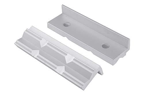 GSR Schonbacken für Schraubstock, Schutzbacken für Schraubstock 100mm Alu/Prismen mit Magnet Spann-Backen