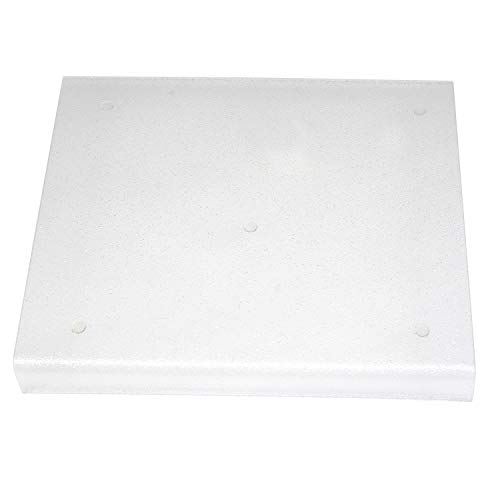 """Kitchen Kare Acrylic Cutting Board with Counter Lip, 13.5""""L x 15""""W, Clear"""