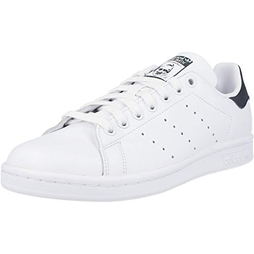 adidas Originals, Stan Smith, Sneakers, Unisex - Adulto, Bianco (Core White/Dark Blue), 44 EU