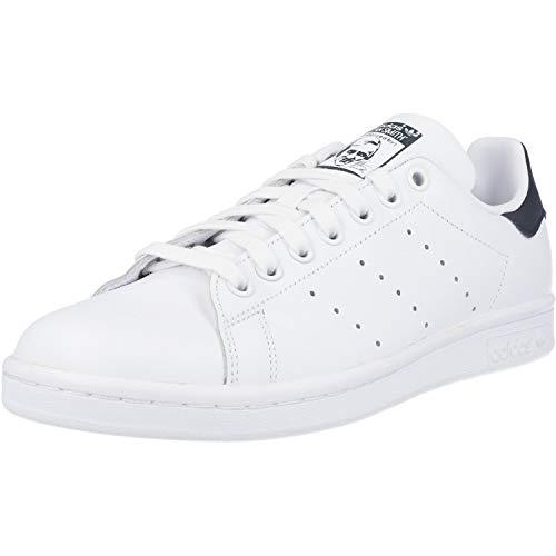 adidas Stan Smith M, Scarpe da Ginnastica Uomo, Core White/Core White/Dark Blue, 42 EU