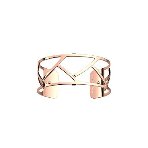 Les Georgettes Bracelet pour femme – Les Essentielles Tresse Tresse – Medium – Couleur : or rose – Largeur du bracelet : 25 mm