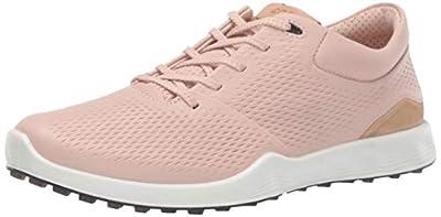 ECCO Women's S-Lite Golf Shoe, Rose Dust Yak Leather, 6-6.5