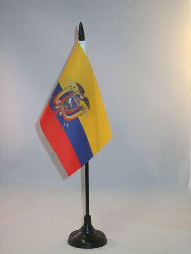 AZ FLAG TISCHFLAGGE Ecuador 15x10cm - EKUADORIANISCHE TISCHFAHNE 10 x 15 cm - flaggen