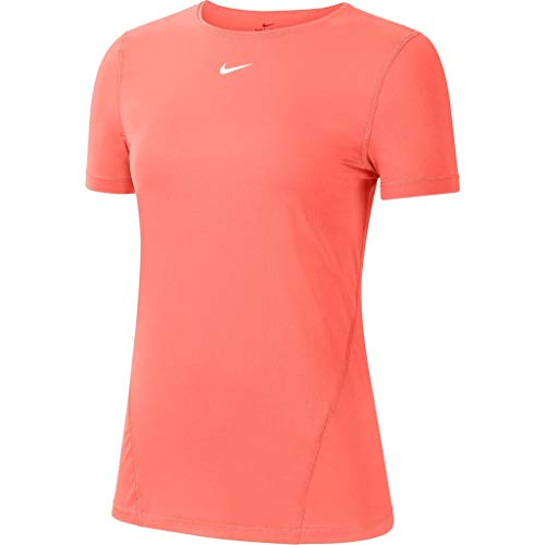 Nike Damen All Over Mesh T Shirt, Bright Mango/White, M EU