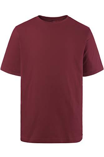 JP 1880 Herren große Größen bis 8XL, T-Shirt, JP1880-Motiv auf der Brust, Basic-Shirt, Rundhalsausschnitt, Reine Baumwolle, aubergine 7XL 702558 83-7XL