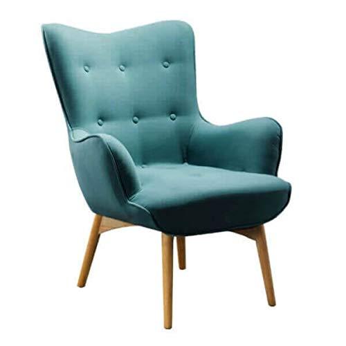 MATHI DESIGN Fauteuil scandinave Java Turquoise