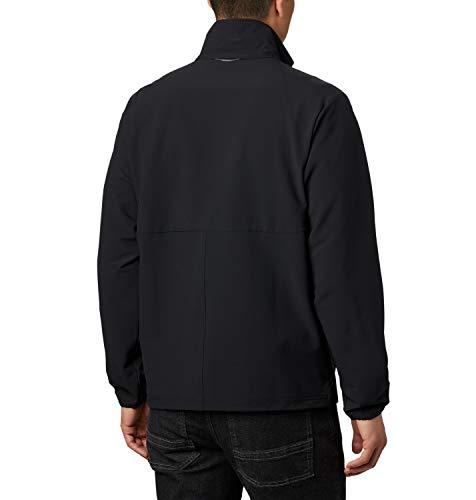 Columbia Herren Softshell-Jacke ohne Kapuze Heather Canyon, Schwarz (Black), M