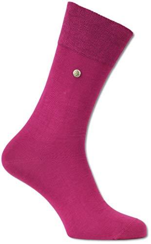 Carlo Colucci Socke ?FIRENZE? aus merzerisierter Baumwolle mit Niete, Pink Pink 43-44