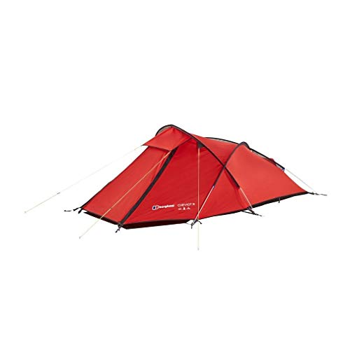 Berghaus Cheviot Lightweight Waterproof 2 Person Tent, Red, One Size