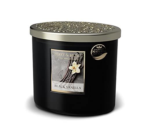 Heart & Home - Vela perfumada con aroma a vainilla negra