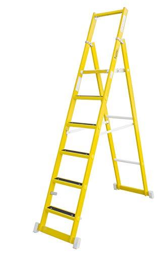 Escalera de tijera aislante con plataforma antideslizante de 31×33 cm, fabricada en...