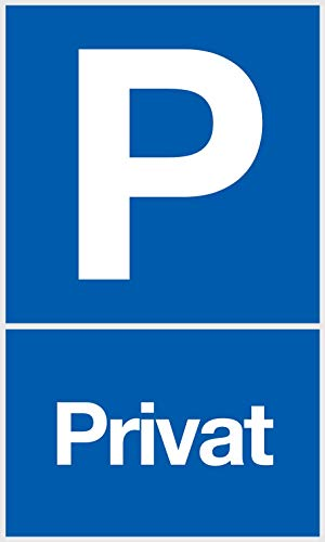 Cartel de aparcamiento privado, aparcamiento privado en azul, dimensiones 25 x 15 cm, señal de advertencia de aparcamiento privado, reserva – aparcamiento libre, placa de espuma dura 3 mm