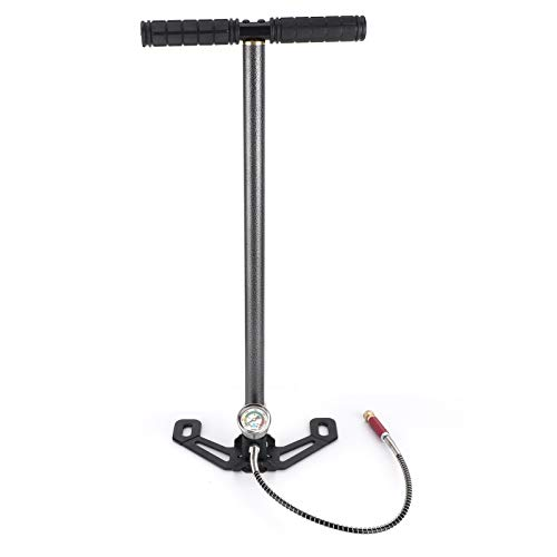 Ejoyous High Pressure Hand Pump, 3 Stage Air Rifle Filling Stirrup Pump up to 6000 psi Airgun PCP Pump with Gauge for High Pressure Tires and Pre-Charged Pneumatic Airguns