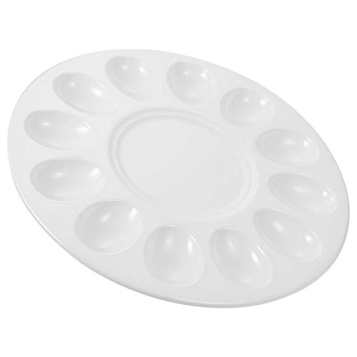 BESTonZON Plato para Servir Huevos Endiablados Plato de Comida de Melamina Plato de Albóndigas Vajilla