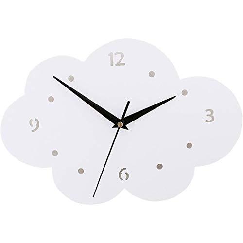 NL Reloj de Pared de plástico en Forma de Nube niños de Pared Creativo Reloj de Pared