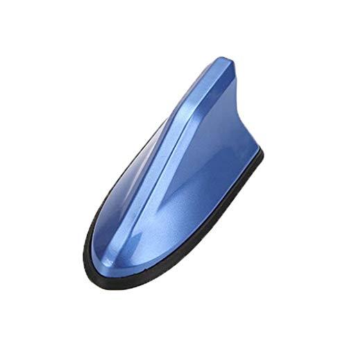 siwetg FM-Signalverstärker, Universalantenne für Autoradio, Haifischflossen-Antenne, Dekoration für Dach, Auto blau